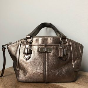 Coach Metallic Mini Handbag